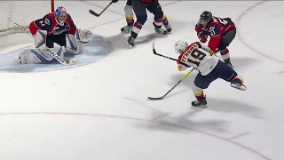 Strome ties it 1 minute after Spitfires open scoring snapping one past Dipietro
