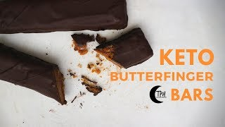 Keto Butterfinger Bars | Low-Carb Candy Bar Recipe