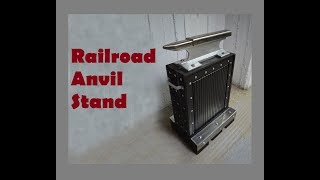 How to make an ANVIL STAND out of reclaimed wood - DIY ANVIL STAND