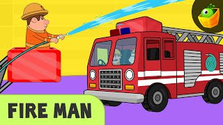 Fireman | Truck Song || Occupational Songs | Community Helpers | Rhymes on Profession