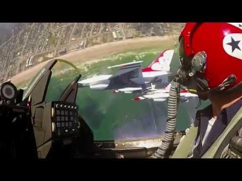 watch Fly Amongst The Solo Thunder - USAF Thunderbirds