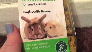 Our first video what we got for our bunnies