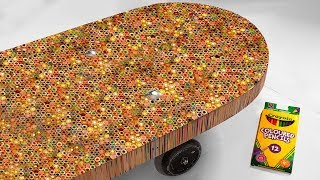 I Built A Skateboard Out Of 10,000 Colored Pencils