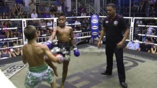 Daniel from Russia (Sinbi Muay Thai) fights at Bangla Boxing Stadium- 2/8/2017