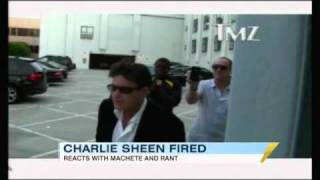 Charlie Sheen Fired, Climbs Building With Machete (03.08.11)