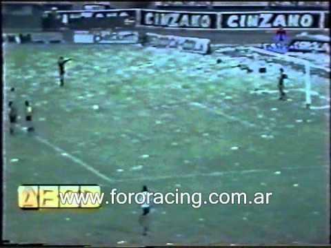 Racing 4 vs Atlanta 0 Ascenso a Primera 1985 1ra Final