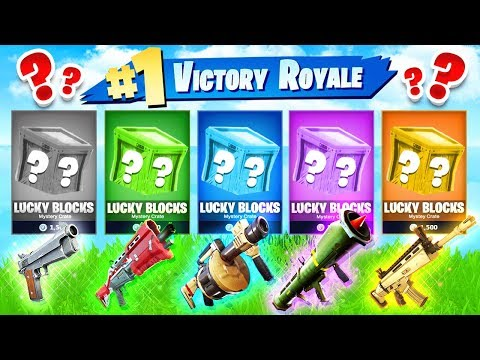 FORTNITE BATTLE ROYALE NEW LUCKY BLOCK WAR with Lachlan Jerome & Kenny