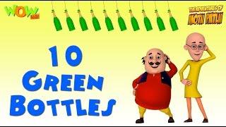 10 Green Bottles - Motu Patlu Rhymes in English - Available Worldwide!