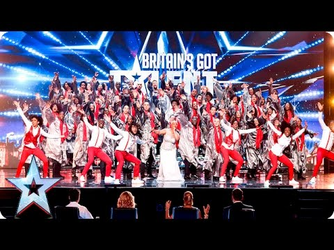 The 100 Voices Of Gospel go for gold! | Week 2 Auditions | Britain's Got Talent 2016