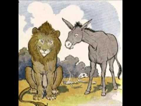 Chiste del león y el burro