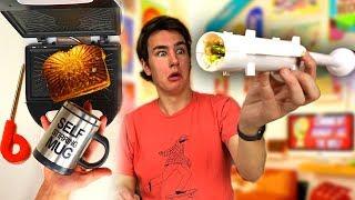 Sushi Bazooka - Testing 5 Food Gadgets!