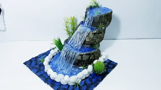 How to make Waterfall Fountain Tutorial with Newspaper /Tabletop/Show piece