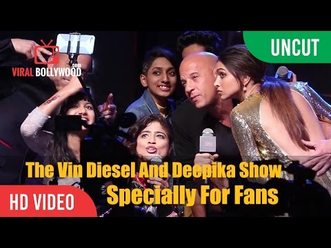 The Vin Diesel And Deepika Show | Crazy Fans | XXX Return of Xander Cage Promotions