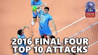TOP 10 ATTACKS - European Champions League FINAL 4