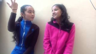 EXCLUSIVE!! Two girls acting. The train scene from chennai express. Must watch!!