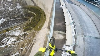 Bike balancing 200m high up - Fabio Wibmer