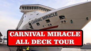 Carnival Miracle cruise ship FULL TOUR