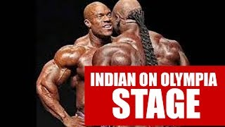 Indian on Olympia Stage