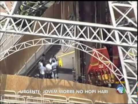Acidente no brinquedo Torre Eiffel do Hopi Hari 24 02 2012 Rede Record