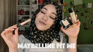New Maybelline Fit Me Foundation, Concealer, and Powder   First Impression & Review   MakeupbyFatya