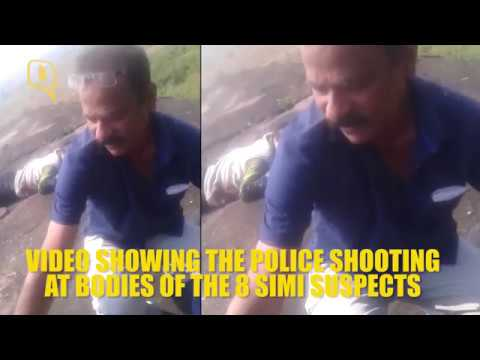 The Quint: Video Showing MP Police Shooting the 8 SIMI Terror Suspects