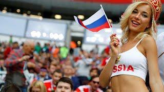جماهير روسيا تحتفل بالفوز الساحق على منتخب السعودية