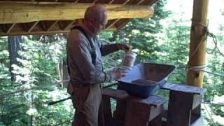 Martin cabin 6/3/09 mixing mortar