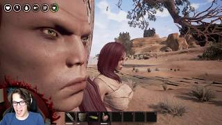 Hot Redhead and Her Creepy Uncle Take on Huge Black Rhino