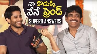 Nagarjuna & Naga Chaitanya Superb Answers | Rarandoi Veduka Chuddam Team Interaction With Media