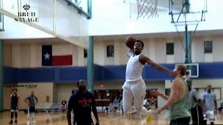 Dennis Smith Jr Turns Into Young D-Rose&Eats NBA Players Alive At LA Pick Up Game!