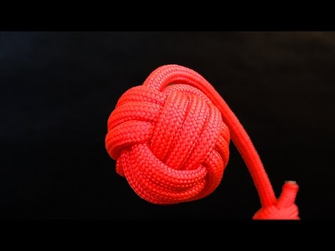 How to tie Monkey s Fist knot paracord keychain
