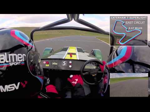 Caterham 7 Superlight On-board Lap - PalmerSport 2015 at Bedford Autodrome