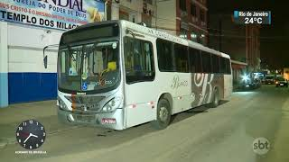 Assalto a ônibus termina com tiroteio e morte de passageiro no RJ | SBT Notícias (13/01/18)