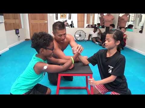 Kung Fu Kids Strongest Arm Wrestler Challenge