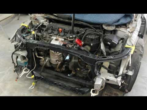2009 HONDA CIVIC REBUILD | HOW TO REPLACE A RADIATOR SUPPORT PART 2 Of 2