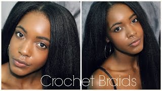How To: Easy Natural Looking Vixen Crochet Braids + How To Straighten & Blend Kanekalon Hair