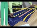 Download Video Download DIY  Woman trouser cutting |[DETAILED] How to Cutting Pant Trousers | Ladies pant cutting 3GP MP4 FLV