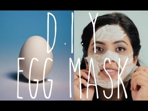 QUICK DIY Egg Facial Mask Acne & Black Head Removal