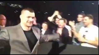 Cro Cop - Guest of Honor at the UFC Fight Night 86, Zagreb, video #1 (2016)