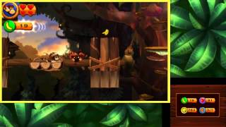 Donkey Kong Country Returns 3D - 100% Walkthrough 12 - World 9 Cloud (3DS Exclusive)