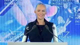 Robot Sophia speaks at Saudi Arabia