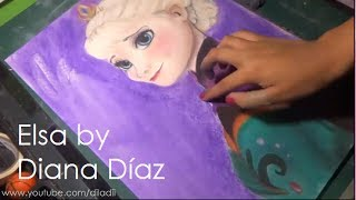 Speed Drawing: Queen Elsa (Frozen) | Diana Díaz