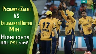 Short Highlights | Peshawar Zalmi Vs Islamabad United | Match 4 | HBL PSL 2018 | 24 Feb | PSL