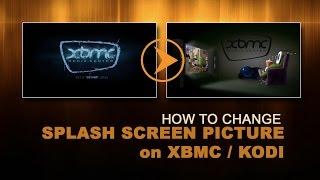 Change Splash boot image on XBMC or KODI