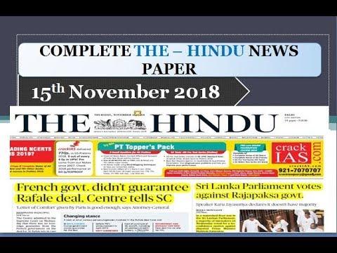 Xxx Mp4 THE HINDU NEWSPAPER 15th November 2018 Complete Analysis 3gp Sex