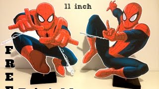 How to make Spiderman Birthday Party decorations with FREE printables