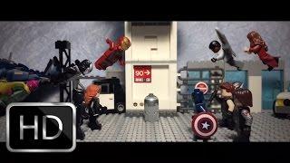 Lego Captain America Civil War Trailer 2 recreation shot for shot