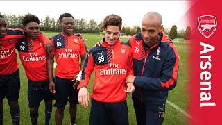 Thierry Henry presents the Arsenal U19 skills challenge