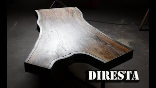 DiResta Steel Bark Walnut Slab