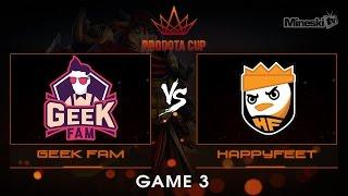 Geek Fam vs HappyFeet | Pro Dota Cup | Grand Finals  | Best of 5 | Game 3